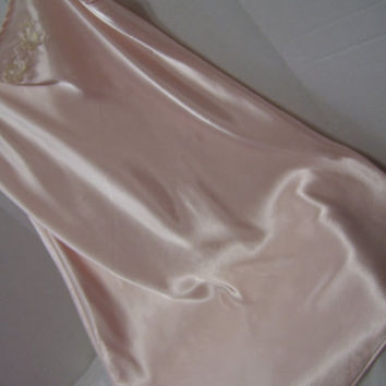 Nightgown Liquid Charmeuse Satin  Short Chemise  Peachy Pink