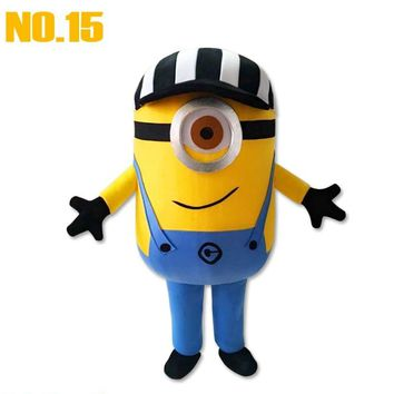 The new 100% real images were sexy female model of  mascot minion mascot costume adult size free shipping