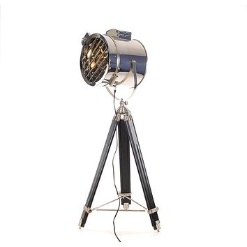 Industrial/Vintage Style Stainless Steel Floor Lamp