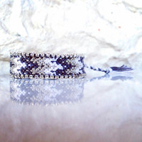 white&silver Swarovsk bracelet, Hot friendship bracelet, women bracelet, silver friendship bracelet