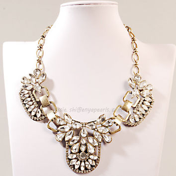Bib Necklace Chunky Necklace Fashion Necklace Frontal Necklace(FN0634)