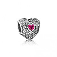 In My Heart Charm - Pink, Ruby, Love , 791168SRU - Pandora Mall of America, MN