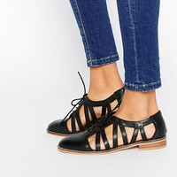 ASOS MEMBERSHIP Leather Flat Shoes