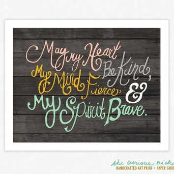 Hand Drawn Typographic Print - Colorful Typography Poster Wall Art