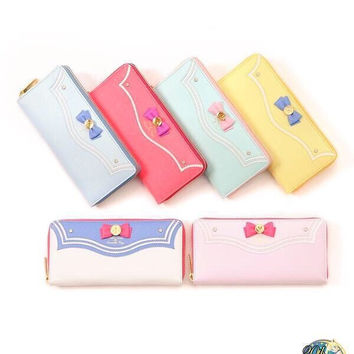 2015 New Samantha Vega Sailor Moon 20th Anniversary Limited Edition Ladies Long Zipper Female Bag Women Leather Wallet Purse