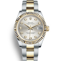 Rolex Datejust 31 Watch: Yellow Rolesor - combination of Oystersteel and 18 ct yellow gold - 178273