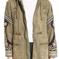 Free People Golden Quills Cargo Jacket | Nordstrom