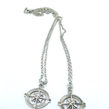 Compass Necklace Set Best Friends ,Mother Daughter Jewlery   Couples Set ,  Compass Jewelry, Sibling Jewelry Set , Unisex Necklace Set