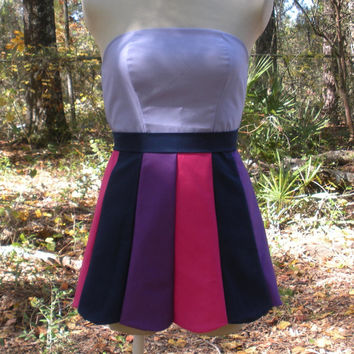 Strapless Scalloped Mini Dress in Twilight Sparkle My Little Pony Colors - MLP Twilight Sparkle Cosplay Dress