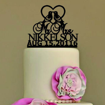 Rustic Wedding Cake Topper, Personalized Cake Topper, Funny wedding cake topper, silhouette wedding cake topper, custom cake topper, deer