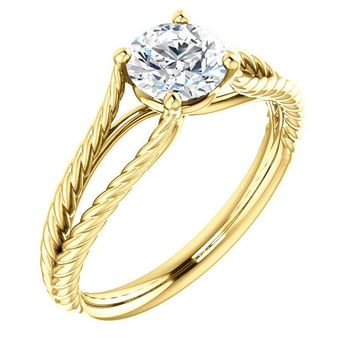 0.75 Ct Round Ring 14k Yellow Gold