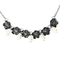 LOVEsick Skull And Rose Necklace