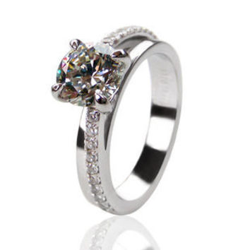 1 Ct sona Simulated Diamond Engagement forever Wedding Rings Promise Rings for women love ring band diamond jewelry (BB)