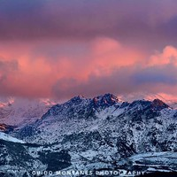"""Alayos Mountains"". Red sunset. Sierra Nevada by Guido Montañés"