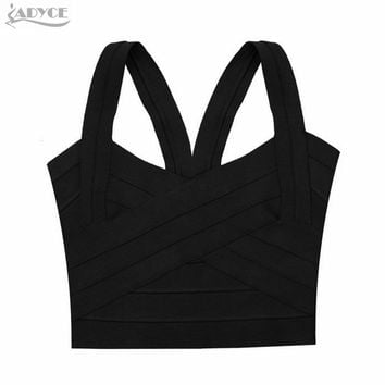 New Brand blusas femininas Rose Red Purple Black Bandage Bustier Top for Women Fashion Tank Tube Top Bodycon Elastic Crop Top