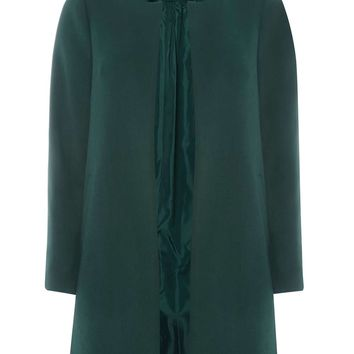 Green Notch Neck Coat - View All Clothing - Clothing