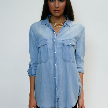 RAILS Marlow Button-Down - Vintage Wash Denim