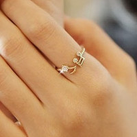 Shiny Gift New Arrival Jewelry Korean Stylish Lovely Diamonds Strong Character Ring [6586203207]