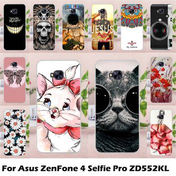 TAOYUNXI Mobile Phone Case for Asus Zenfone 4 Selfie Pro ZD552KL 5.5 inch Cover Case Soft TPU Silicon DIY Painted Bag Skin Shell