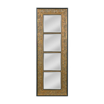 Mirror Masters Skyler Baroque Carved Wood Four Panel Sectional Vertical Mirror