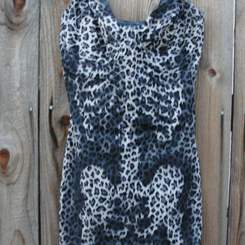 Hand painted leopard print skeleton dress /  bodycon / body slimmer / dia de los muertos / day of the dead / halloween costume