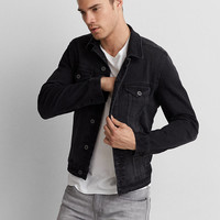 AEO Extreme Flex Denim Jacket, Black