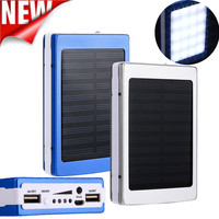 2017 New Portable Solar Power Bank 30000mAh Dual-USB Solar Battery Charger powerbank for iphone 6 7 all Phone Universal Charger