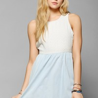 BDG Dotted Chambray Fit & Flare Dress - Urban Outfitters