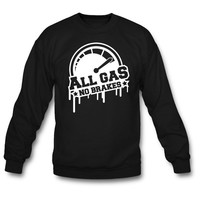 all gas design sweatshirt
