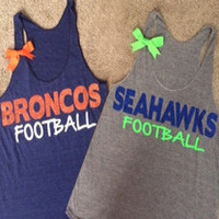 Broncos Tank - Seahawks Tank - Super bowl Tank - Ruffles with Love
