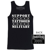 "Men's ""Tattooed Military"" Tank by Steadfast Brand (Black)"