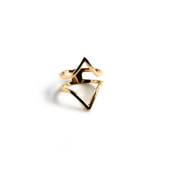 """Up And Down"" Gold Finger Ring"