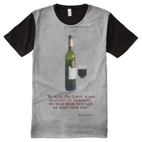 The Finest Wines All-Over Print T-Shirt
