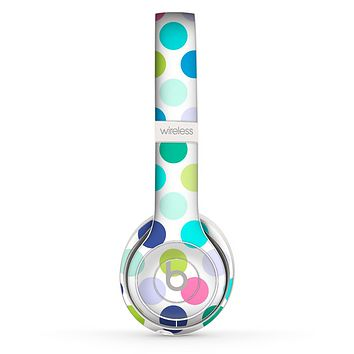 The Vibrant Colored Polka Dot V1 Skin Set for the Beats by Dre Solo 2 Wireless Headphones