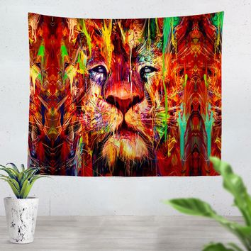 Red Lion Tapestry