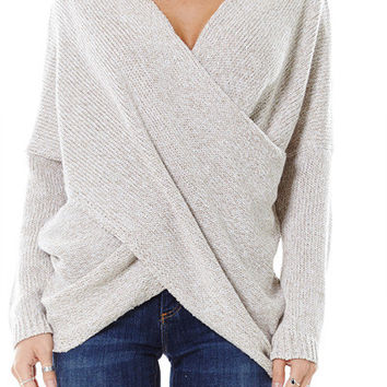 Wrapped in Warmth Sweater - Oatmeal
