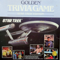 Vintage Golden Trivia Board Game Star Trek Edition 1985