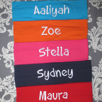 ONE personalized headband. Name, Monogram OR Sorority. Lots of colors and fonts to choose from.