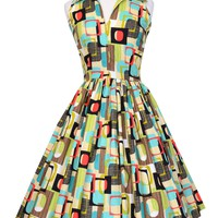 Mari Dress in Go Retro Print