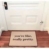 Be There in Five You're Like, Really Pretty Reminder Doormat | Wayfair