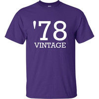 Vintage 1978 Birthday Tee Great Birthday Printed T Shirt For Those Born in That Special Year Mens Unisex and Womans Sizes