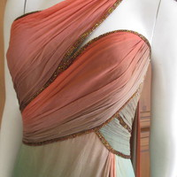 Bob Mackie Ombre Silk Chiffon Godess Dress