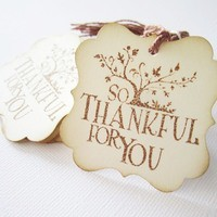 Vintage Inspired So Thankful Thank You Tags from Adorebynat