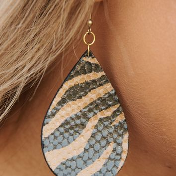 The Animal Inside Dangle Earrings (Brown)