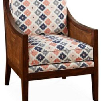 Windwood Accent Chair, Indigo/Melon, Accent & Occasional Chairs