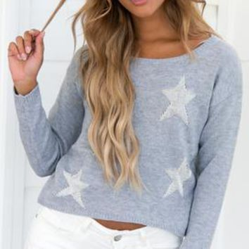 HEARTLINES KNIT (GREY)