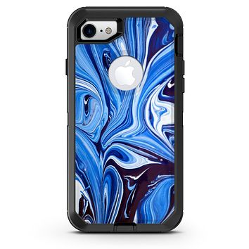 Blue and White Blended Paint - iPhone 7 or 8 OtterBox Case & Skin Kits