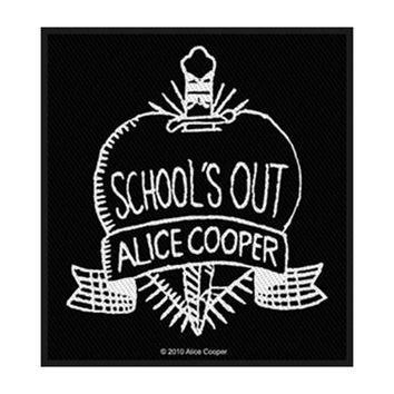 Alice Cooper Men's School's Out Woven Patch Black