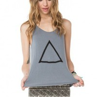 Brandy ♥ Melville |  Kay Triangle Embroidery Tank - Graphic Tops - Clothing