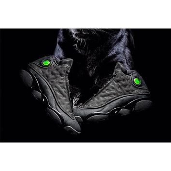 Air Jordan 13 Black Cat GS Basketball Sneaker Size US 5.5-13